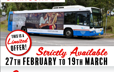 Extended offer Superside Bus Advertising limited offer from Nordic Media only $165 pw+GST